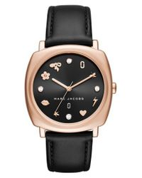 Marc Jacobs - Multicolor Marc Jacobs Mandy Leather Strap Watch - Lyst