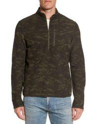 Ibex | Green Scout Jura Merino Wool Blend Quarter Zip Pullover for Men | Lyst