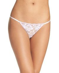 Betsey Johnson | White 'starlet' Lace Thong | Lyst