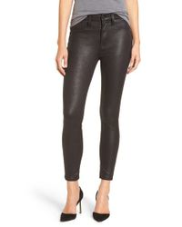 7 For All Mankind | Black 7 For All Mankind Knee Seam Skinny Pants | Lyst