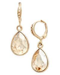 Givenchy - Metallic Small Teardrop Earrings - Lyst
