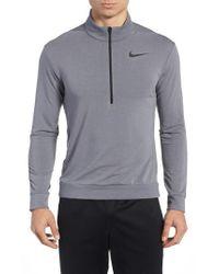 Nike - Black Dry Training Quarter Zip Pullover for Men - Lyst