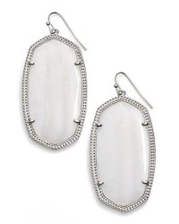 Kendra Scott | Purple 'danielle - Large' Oval Statement Earrings | Lyst