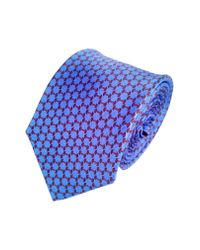 Lazyjack Press - Blue Lift Silk Tie for Men - Lyst