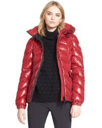 Moncler | Red Badete Hooded Down Shell Jacket | Lyst