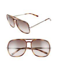 Chloé - Multicolor 60mm Gradient Lens Navigator Sunglasses - Lyst