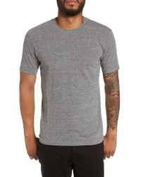 Goodlife - Gray Supima Cotton Blend Crewneck T-shirt for Men - Lyst