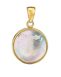 Asha - Metallic Mother-of Pearl Initial Charm - Lyst