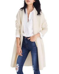 Madewell - Multicolor Fulton Sweater Coat - Lyst