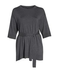 Eileen Fisher - Gray Belted Tunic - Lyst
