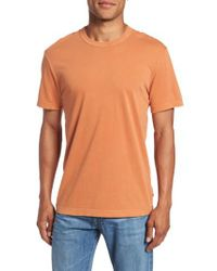 James Perse - Orange Crewneck Jersey T-shirt for Men - Lyst