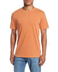 James Perse | Orange Crewneck Jersey T-shirt for Men | Lyst