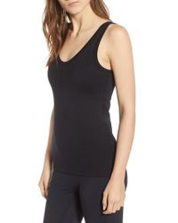 James Perse - Black Scoop Neck Surf Tank - Lyst