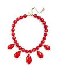 Kate Spade | Red Collar Necklace | Lyst