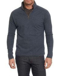 Robert Graham | Blue Warrensburg Herringbone Quarter Zip Pullover for Men | Lyst
