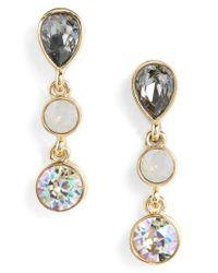 St. John - Metallic Swarovski Crystal Drop Earrings - Lyst