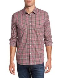 Jeremy Argyle Nyc   Red Slim Fit Check Sport Shirt for Men   Lyst