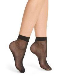 DKNY - 2-pack Fishnet Anklets, Black - Lyst