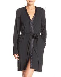 Calvin Klein | Black 'essentials' Short Robe | Lyst