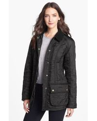 Barbour   Black 'beadnell' Quilted Jacket   Lyst