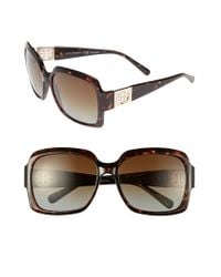 Tory Burch | Brown 59mm Polarized Sunglasses | Lyst