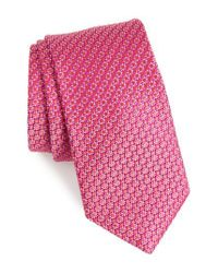 Ted Baker - Pink Solid Silk Tie for Men - Lyst
