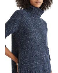 Madewell - Blue Flecked Turtleneck Sweater - Lyst