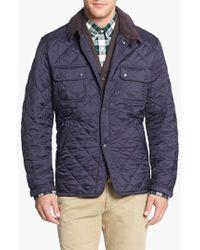 Barbour | Blue 'tinford' Regular Fit Quilted Jacket for Men | Lyst