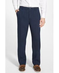 Tommy Bahama | Blue 'new Linen On The Beach' Easy Fit Pants for Men | Lyst