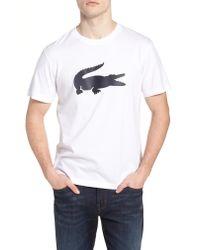 Lacoste - Black Crocodile T-shirt for Men - Lyst