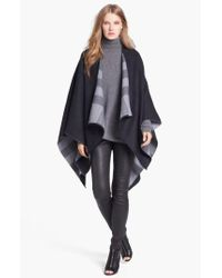 Burberry - Black Reversible Merino Wool Ruana - Lyst