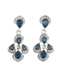 Oscar de la Renta - Metallic Parlor Crystal Clip Earrings - Lyst