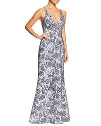 Dress the Population - Multicolor Karen Sequin & Lace Trumpet Gown - Lyst