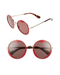 Kate Spade - Red Rosaria 53mm Heart Cutout Lens Sunglasses - Lyst