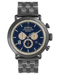 Shinola - Metallic The Runwell Contrast Chrono Bracelet Watch for Men - Lyst