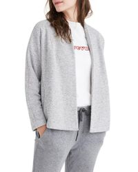 Madewell - Gray Terry Swing Jacket - Lyst