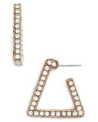 Loren Hope - Metallic Bailey Hoop Earrings - Lyst