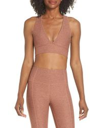 Varley - Brown Racerback Sports Bra - Lyst