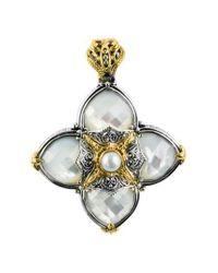 Konstantino - Metallic Cross Pendant - Lyst