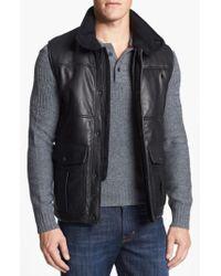 Vince Camuto - Black Leather Vest for Men - Lyst