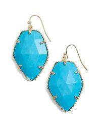 Kendra Scott - Blue 'corley' Faceted Stone Drop Earrings - Lyst
