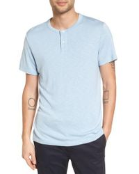 Theory - Blue Gaskell Anemone Slim Fit Henley for Men - Lyst