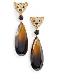 Kate Spade - Metallic Run Wild Cheetah Drop Earrings - Lyst