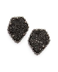 Kendra Scott | Black 'tessa' Stone Stud Earrings | Lyst
