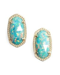 Kendra Scott | Blue Ellie Oval Stud Earrings | Lyst