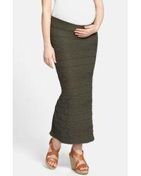 Tees by Tina   Green '' Maternity Maxi Skirt   Lyst