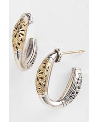 Konstantino | Metallic 'classics' Two-tone Hoop Earrings | Lyst