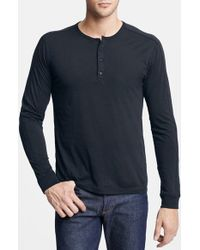 Vince | White Long Sleeve Knit Henley for Men | Lyst