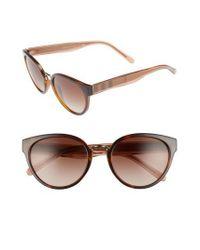 e28b5d69259 Lyst - Burberry 53mm Gradient Cat Eye Sunglasses in Natural