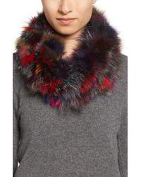 Toria Rose - Multicolor Genuine Fox Fur Infinity Scarf - Lyst